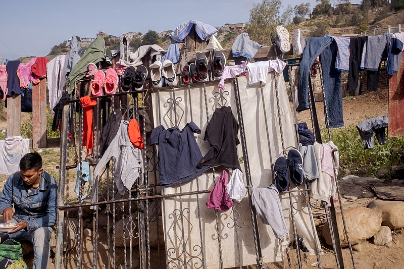 The clothing and shoes of migrants who had been returned to Mexico after cros...