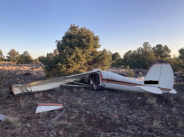 The wreckage of a small plane was found April 19, 2021, in Coconino County, A...