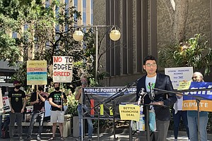 Activists Rally To Oppose SDG&E Bid For Utility Franchise Deals
