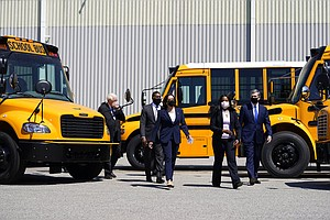 Photo for Dems Push $25B To Electrify School Buses, A Biden Priority