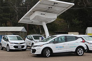 Photo for Mayor Gloria Begins Pilot Program To Charge City Vehicles With Solar Power