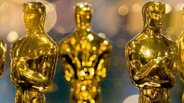 Oscar statuettes are shown in this photo taken in 2021.