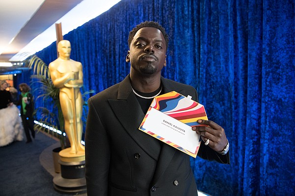 Daniel Kaluuya backstage with the Oscar® for Best Actor i...