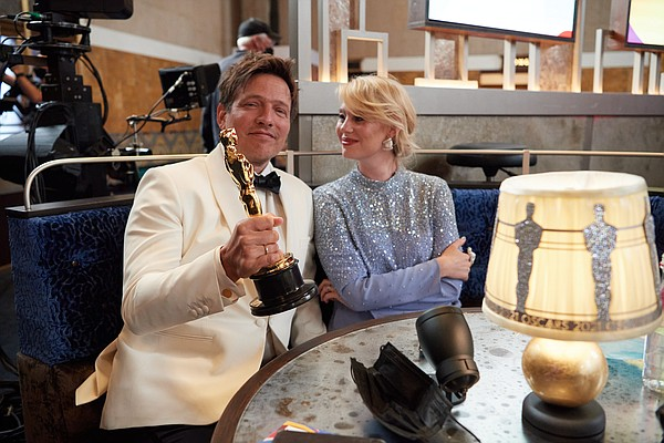 On behalf of Denmark, Thomas Vinterberg poses with the Os...
