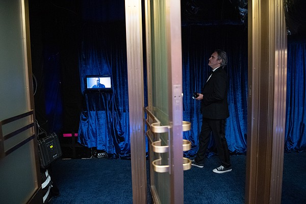 Joaquin Phoenix backstage during the live ABC Telecast of...