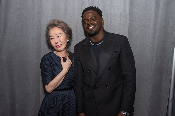 Oscar® Winners Yuh-Jung Youn and Daniel Kaluuya backstage...