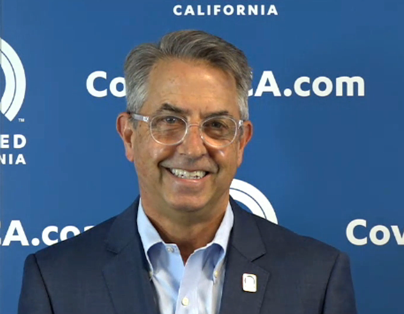 Peter V. Lee, executive director of Covered California speaks during a Covere...