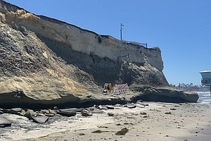 Photo for Bluffs Crumble At San Elijo State Beach