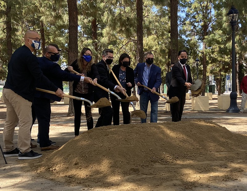 Mayor Todd Gloria and other city leaders break ground at Children's Park in d...