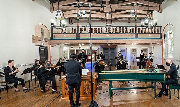 Musicians from Bach Collegium San Diego record their upco...