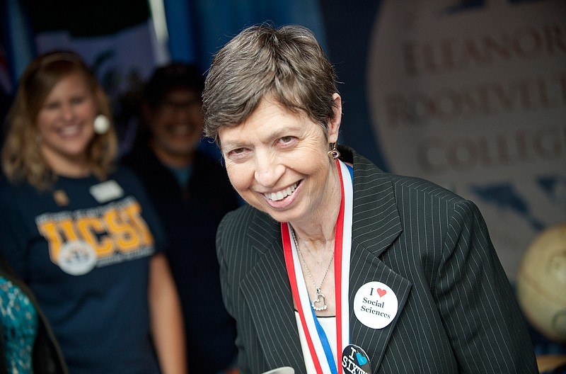File photo of then-UC San Diego Chancellor Marye Anne Fox at the Funders' Day...