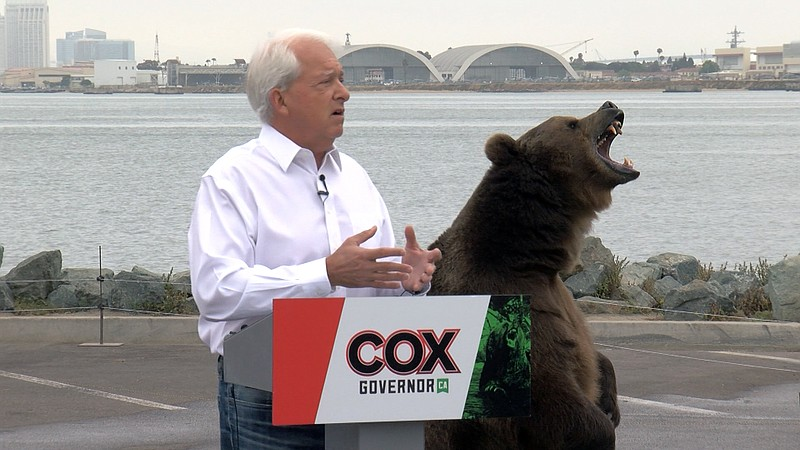 North County businessman and gubernatorial candidate John Cox appearing with ...