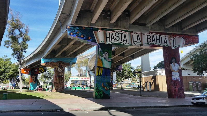 The murals of Chicano Park in Barrio Logan are pictured in this photo from Ma...