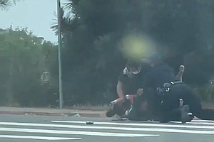 Photo for Rough Arrest Of Homeless Man In La Jolla Spurs Protest, In-House SDPD Probe