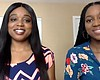 Sisters, Nene (left) and Ekene (right) Okolo th...