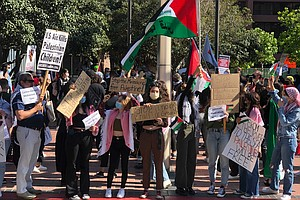 Photo for San Diegans Protest Amid Growing Conflict Between Israel And Palestine