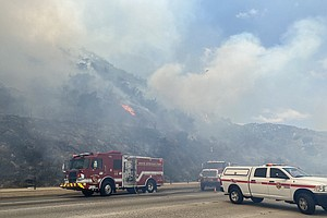 Photo for Firefighters Corral Blaze Northwest Of Escondido