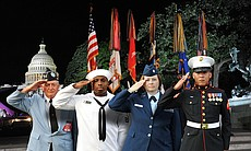 Military salute. Tune in to the 32nd annual bro...