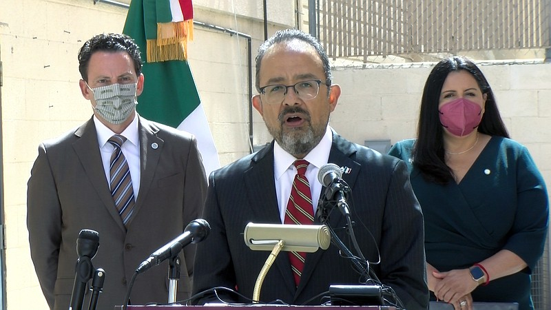 Supervisor Nathan Fletcher, Consul General of Mexico in San Diego Carlos Gonz...