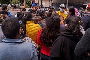 Photo for Hope Arrives In Tijuana Migrant Encampment, As More Asylum-Seekers Allowed To...