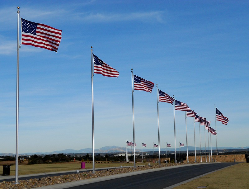 The Avenue of Flags at Miramar National Cemetary is pictured in this undated ...