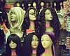 In this undated photo, a display of mannequin h...