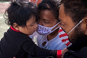 Photo for A Migrant Family Put Their Hopes In President Biden. Now They're Safe In The ...