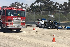Photo for Vigil Planned For Two SDPD Detectives Killed By Wrong-Way Driver