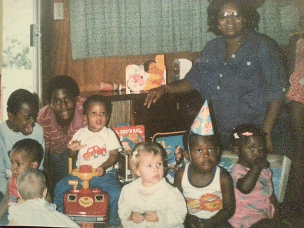 Undated photo of Rajah Gainey and his adoptive family. Ph...