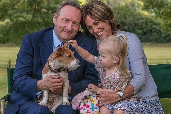 Barnaby family with Paddy the dog.