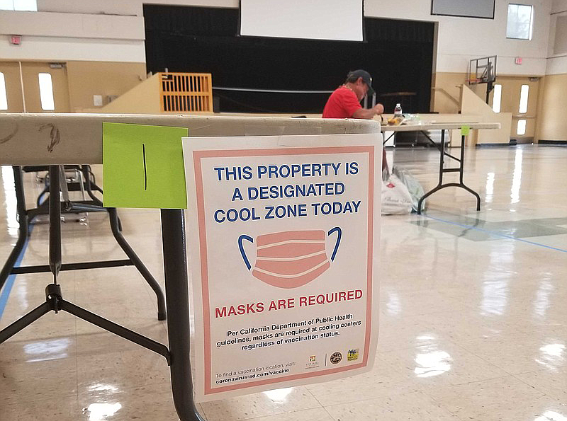 A 'This Property is a Designated Cool Zone Today' sign is displayed in the La...