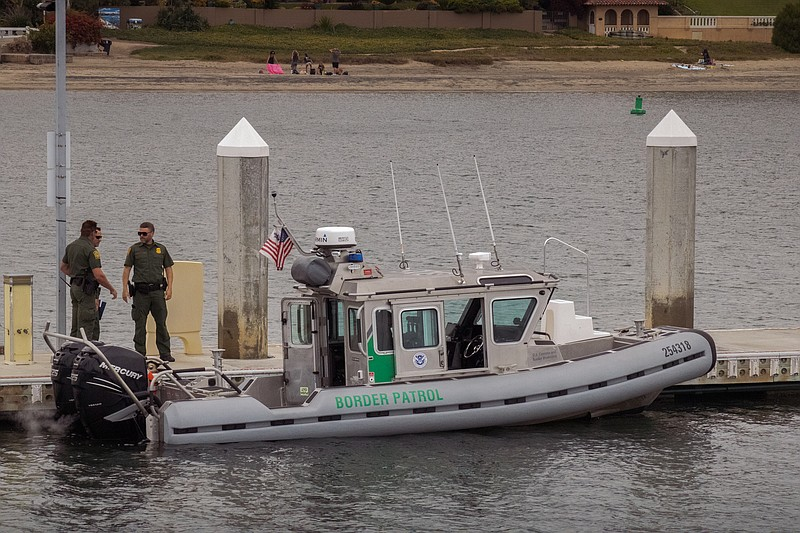 A boat that's now part of the Border Patrol's marine unit, created in respons...