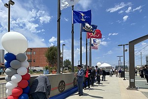 Photo for Officials Unveil Trolley Station Near UCSD Paying Tribute to Military Members