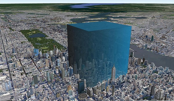 The amount of water that escaped the lake, superimposed o...