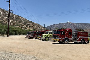 Photo for Brush Fire That Scorched 350 Acres In Pala 40% Contained