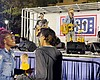 The country band LOCASH performs before a crowd...