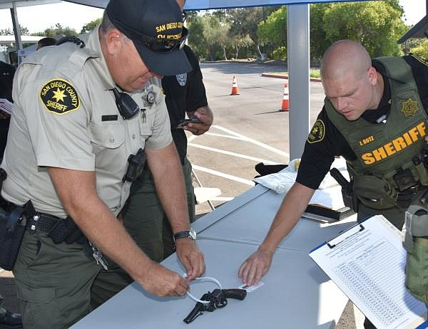 San Diego County Sheriff's document surrendered firearms at a