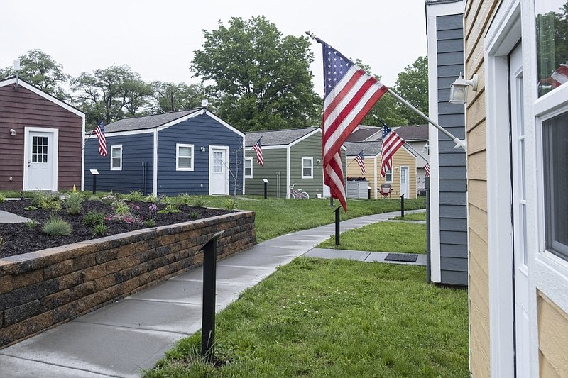 The first Veterans Community Project campus in Kansas City, Mo. features 49 t...