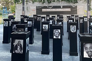 Photo for San Diego African American Museum Of Fine Art Unveils 'Say Their Names' Memorial
