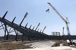 Photo for Aztec Stadium Topped-Out Less Than 14 Months Before 1st Game