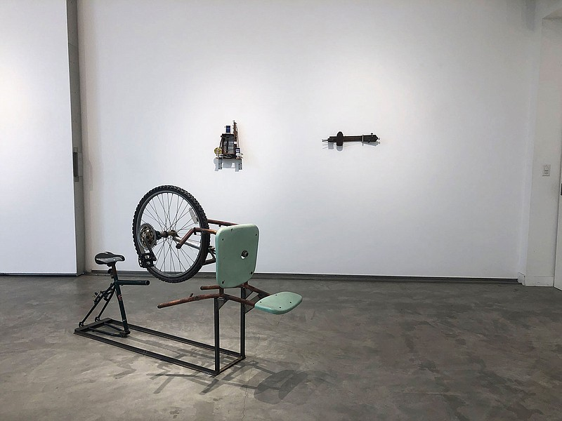 Three of Guillermo Galindo's works are on display at Lux Art Institute in a J...
