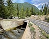 Water in Lost Man canal passes underneath Highw...
