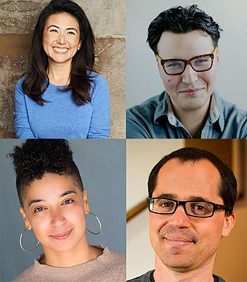 The DNA New Play Series playwrights are, clockwise from t...