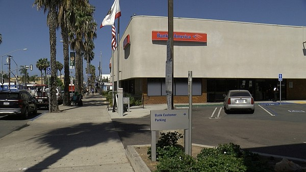 Pictured above is the Bank of America in Pacific Beach, J...