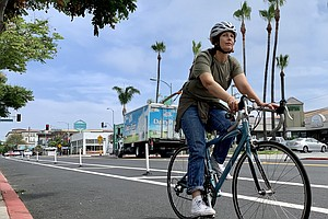 Cyclists, Business Owners Review New 30th Street Bike Lanes In North Park