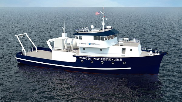 Artist's rendering of the research vessel that will repla...