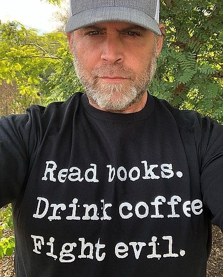 Author Chris Baron in an undated photo.