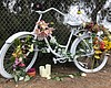 A memorial for Laura Shinn, who was struck and ...
