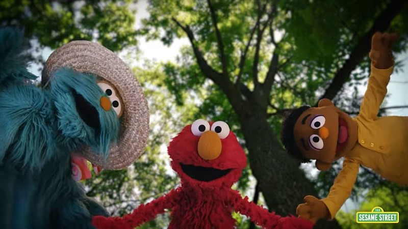 """Sesame Street characters Rosita, Elmo, and Wes perform in """"Great Things,"""" a m..."""