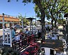 An outdoor dining parklet at Matteo in the Sout...